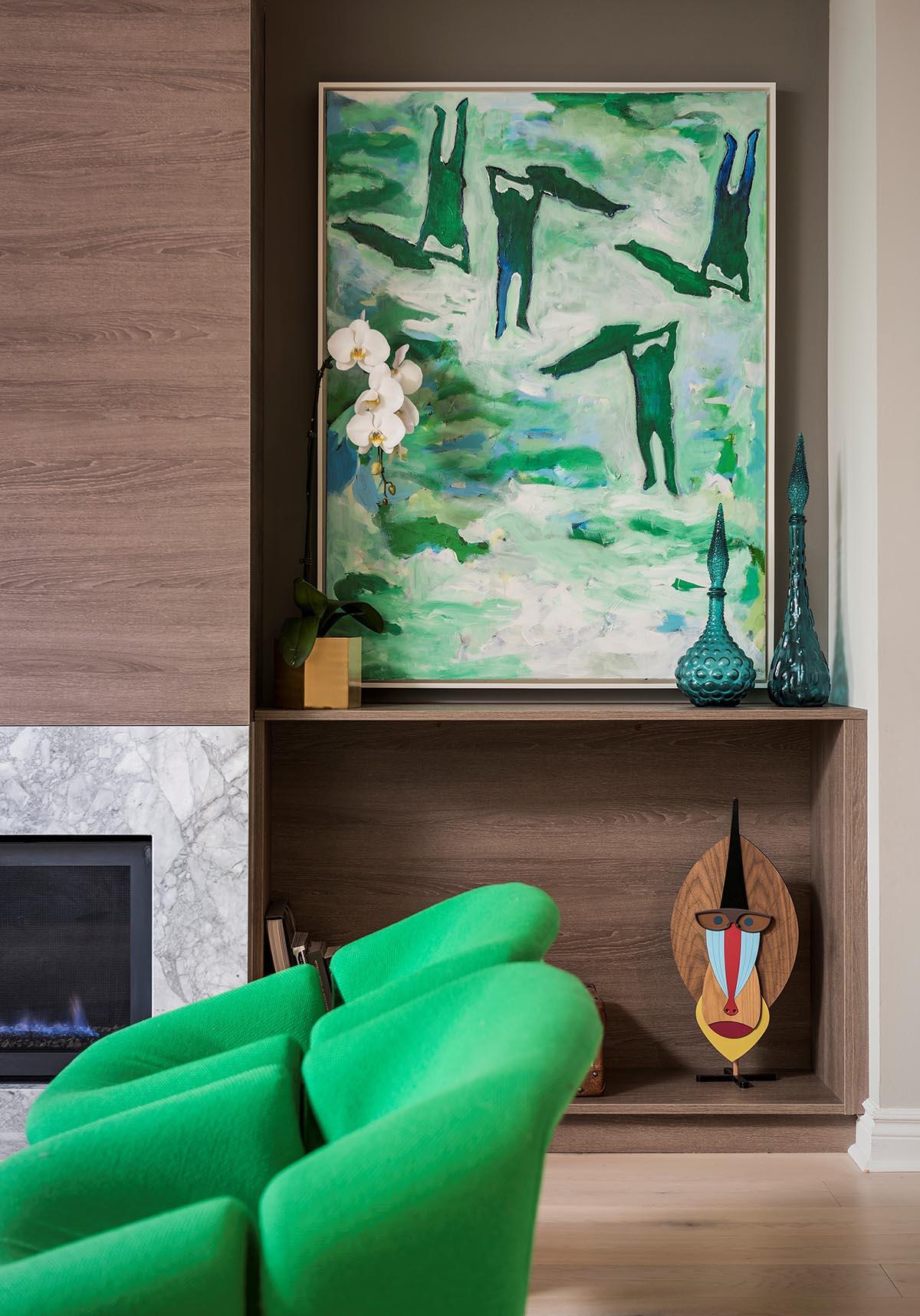SKONA Nora Fireplace Side Cabinet